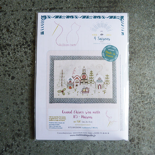 Un Chat Embroidery Kit : Winter Village
