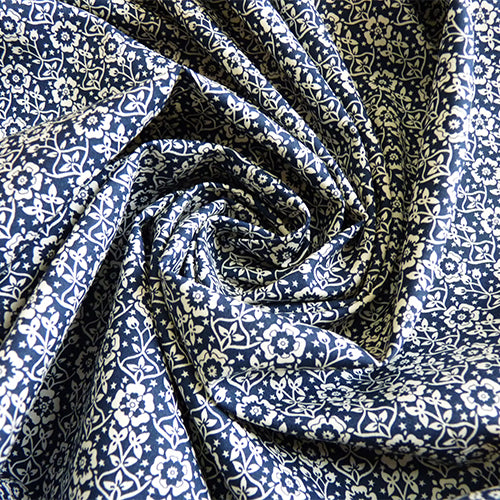 liberty of london picadilly poplin cotton kings navy floral