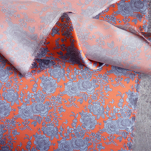 liberty of london belgravia silk satin blue floral coral pink cambridge lace