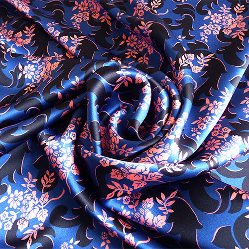 liberty of london belgravia silk satin prince regent dark floral
