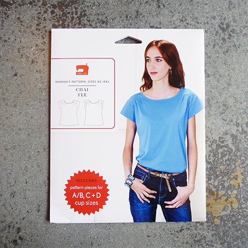 liesl and co chai tee t shirt sewing pattern