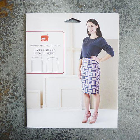 liesl and co extra sharp pencil skirt sewing pattern