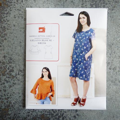 liesl and co gelato blouse shirt dress sewing pattern