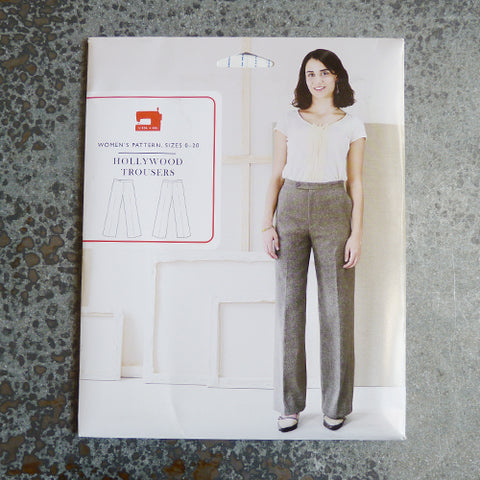 liesl and co hollywood lined trousers pants sewing pattern
