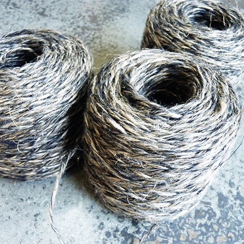 DK worsted Belgian linen yarn black flax