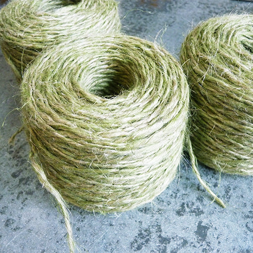 DK worsted Belgian linen yarn green flax