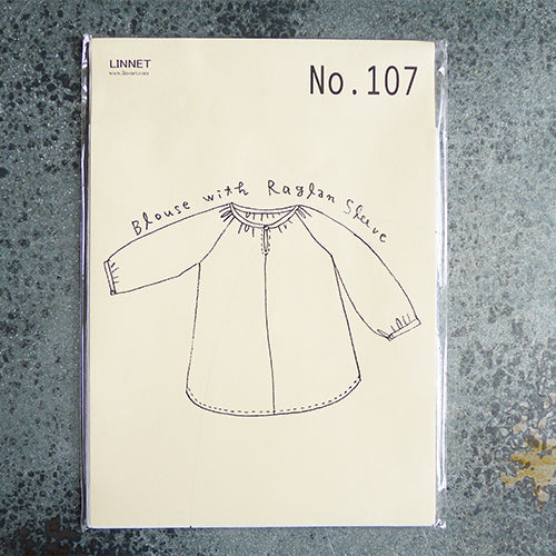 linnet japanese sewing pattern raglan sleeve blouase