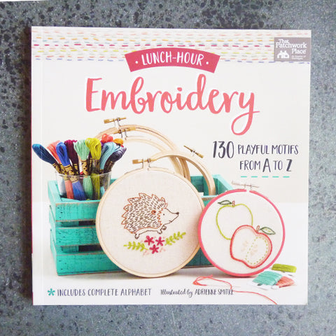 lunch hour embroidery book by adrienne smitke