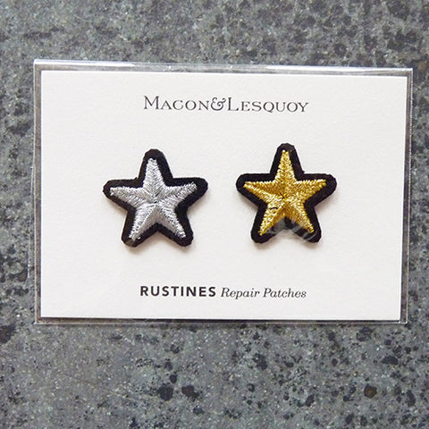 macon lesquoy iron on repair patch star