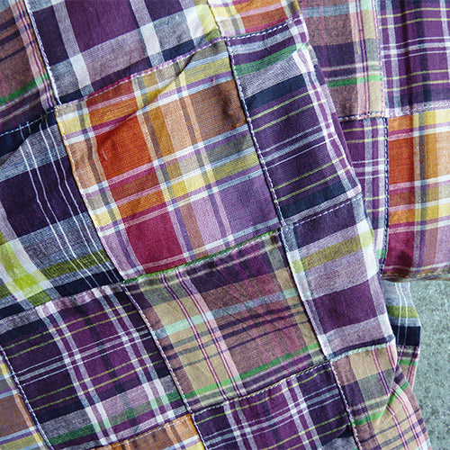 Cotton Patchwork Madras - Purple / Magenta / Green