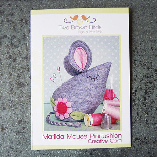 matilda mouse felt pincushion sewing pattern