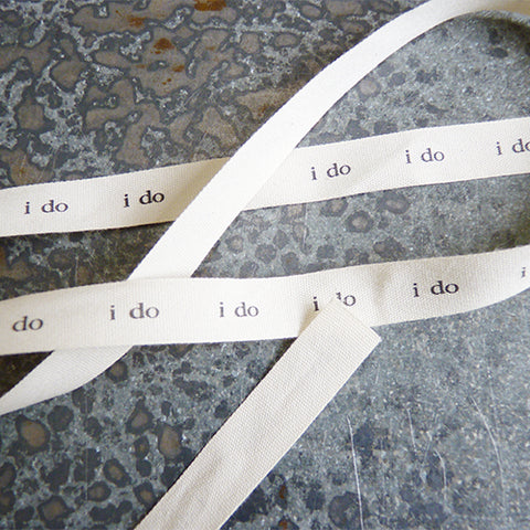 may arts ivory cotton ribbon i do wedding