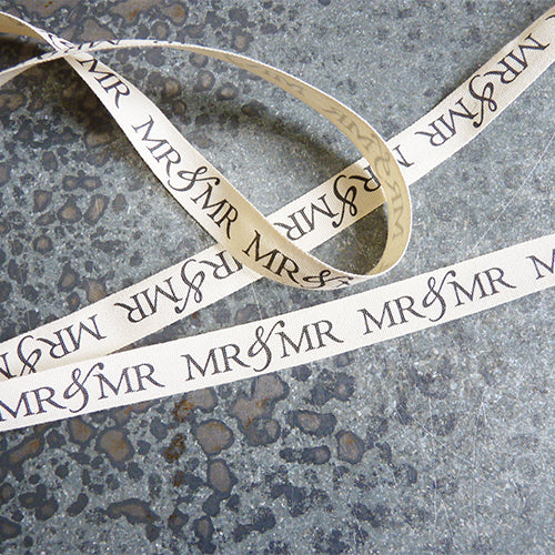 may arts ivory cotton ribbon mr and mr wedding