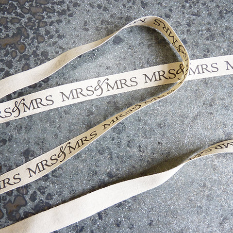 may arts ivory cotton ribbon mrs and mrs wedding
