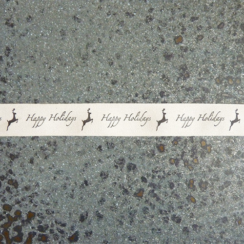 may arts ivory canvas ribbon happy holidays