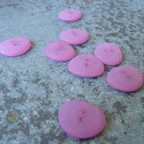 pink beach glass button
