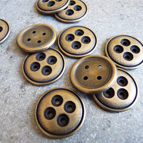 Layered Button - Antique Brass Thumbnail