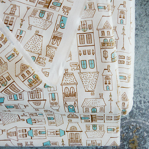 Michael Miller : Blue City Scene quilting cotton fabric
