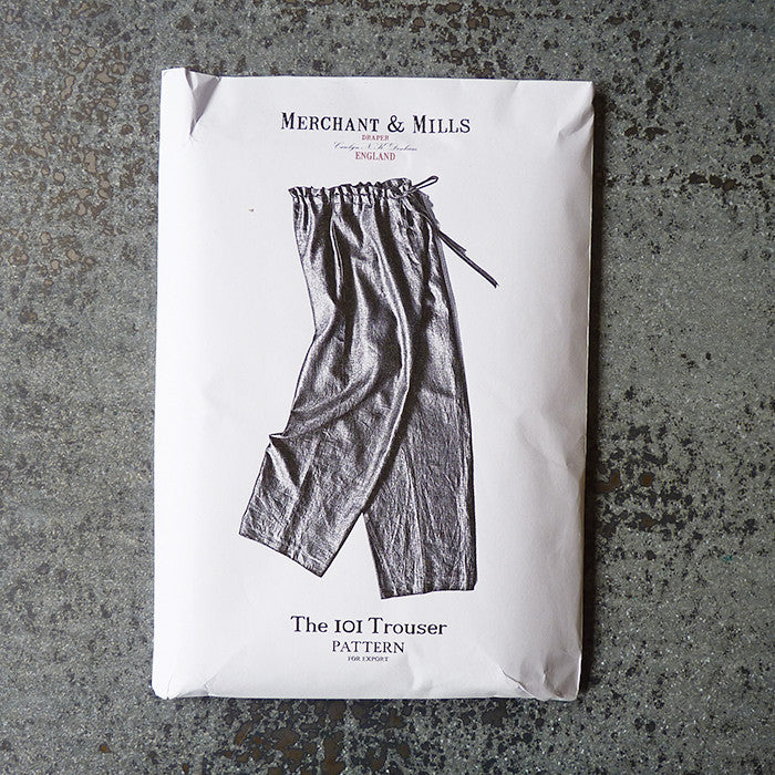merchant and mills trouser sewing pattern