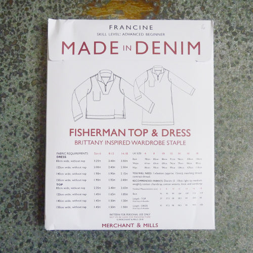 merchant and mills sewing pattern francine shirt dress tunic