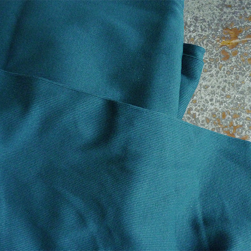 merchant and mills cotton rib knit alta mare teal