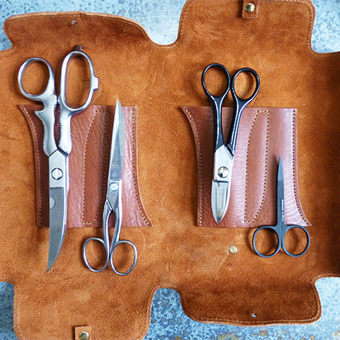 merchant and mills household scissors gift set leather wrap