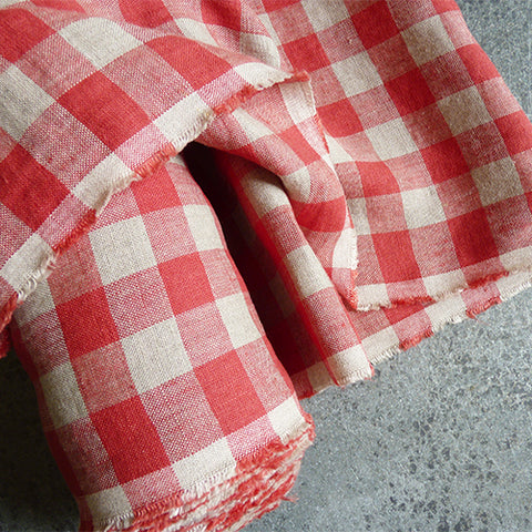 Merchant & Mills Fabric : Calamity Red Linen gingham