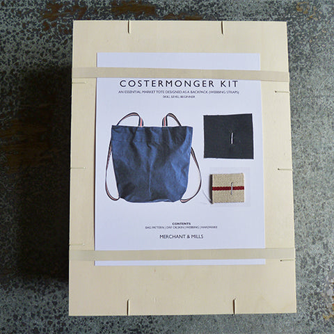 Merchant & Mills : Costermonger Bag Kit - Grey