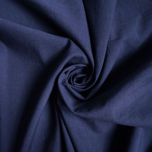 Merchant & Mills Fabric : Cotton / Hemp - structure navy blue