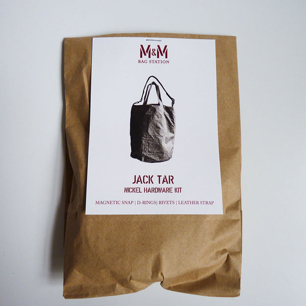 Merchant & Mills Notions : Jack Tar Bag Hardware Kit - Nickel