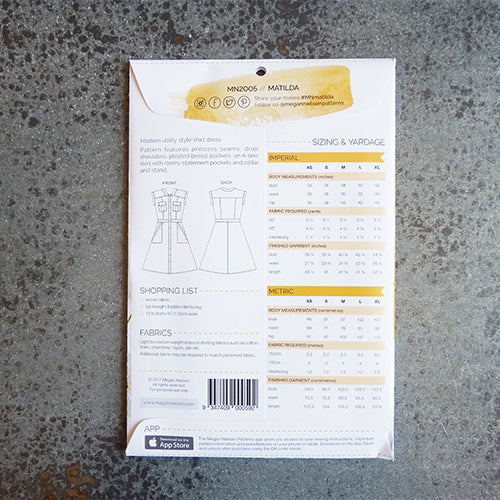 megan nielsen sewing pattern