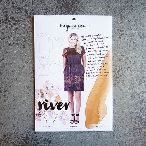 megan nielsen sewing pattern river dress and top