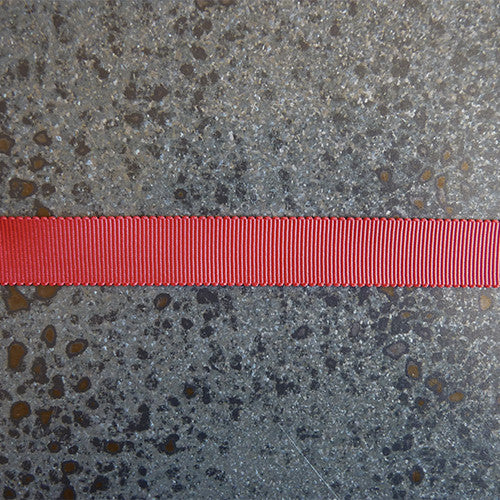 mokuba polyester grosgrain red