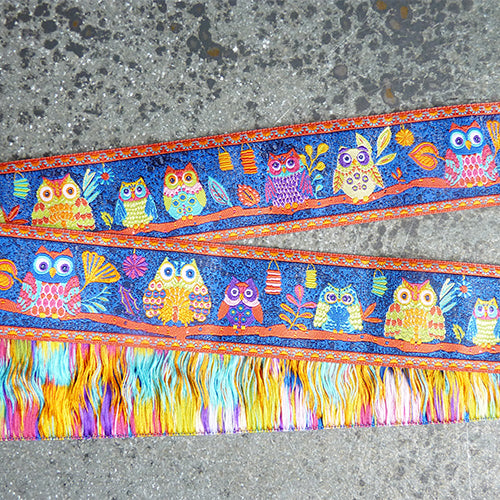 odile bailloeul ribbon multicolor owls navy