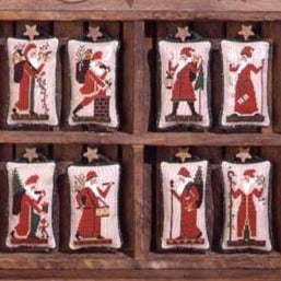 Counted Cross Stitch Pattern: Old World Santas
