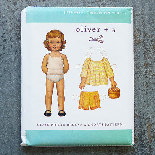 oliver + s Patterns : Class Picnic Blouse & Shorts sewing pattern front