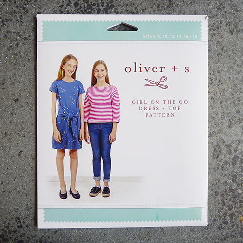 oliver and s girl on the go tee shirt dress sewing pattern