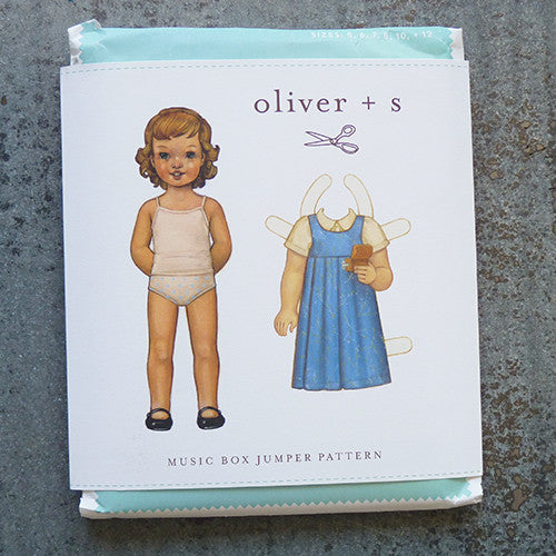 oliver + s music box jumper sewing pattern front