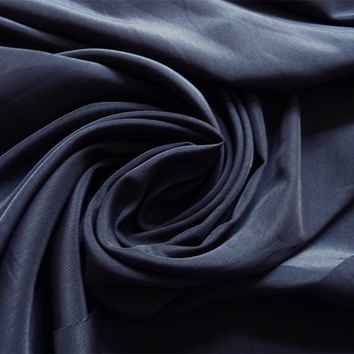 polyester crepe de chine navy