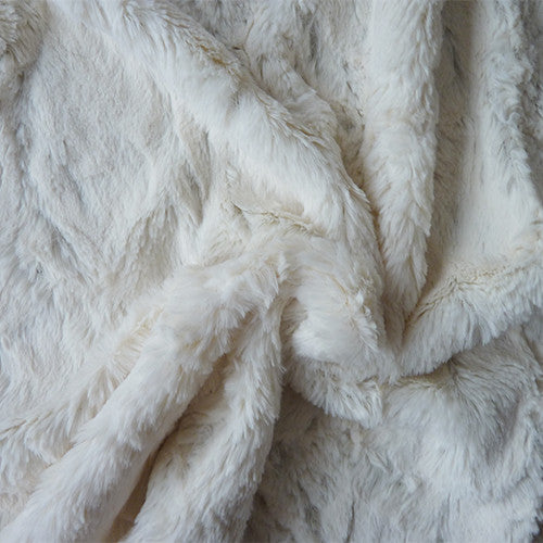 Polyester Faux Rabbit Fur - Cream Thumbnail