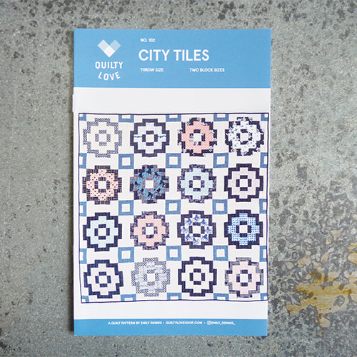 quilty love city tiles quilt sewing pattern