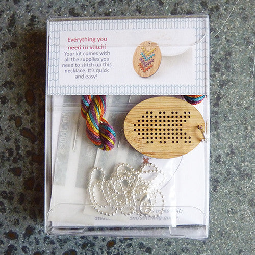 Red Gate Stitchery : Bamboo Necklace Kit - Chevron Thumbnail