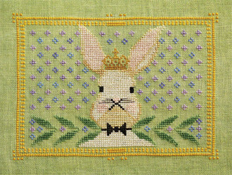 Counted Cross-Stitch Pattern: Regal Rabbit