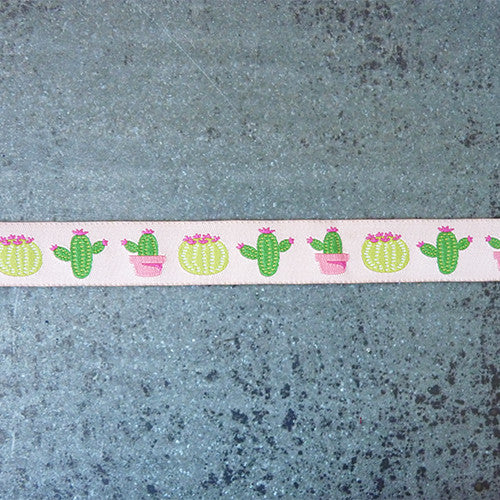 green pink cactus ribbon