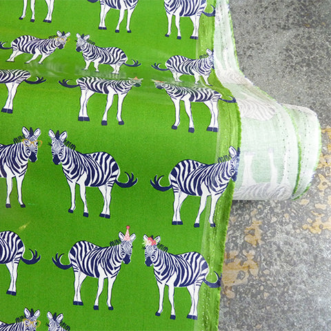riley blake coated cotton zebra fabric