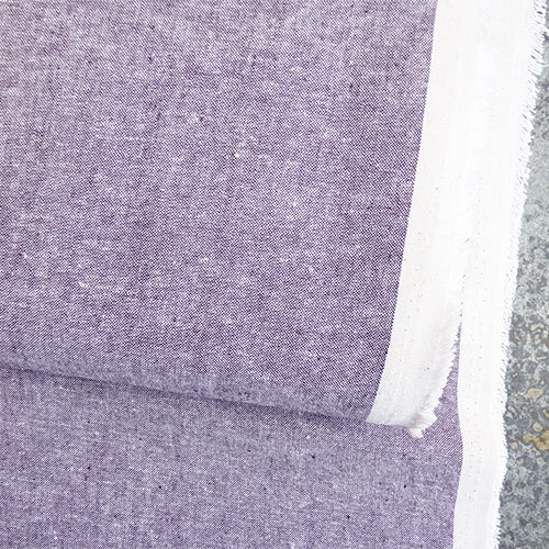 robert kaufman essex chambray linen cotton purple