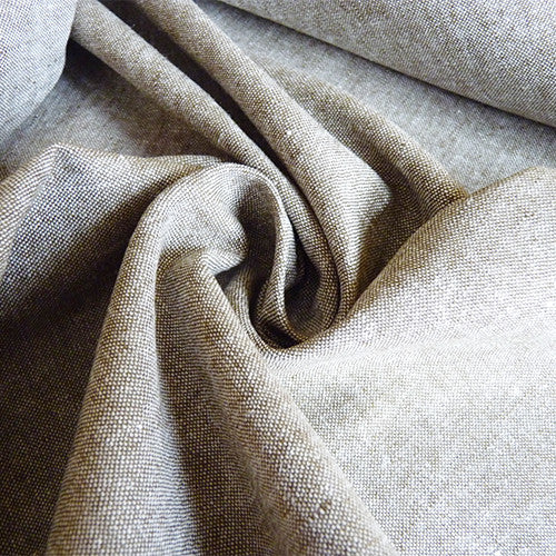 Robert Kaufman : Essex Chambray Linen - Olive Thumbnail