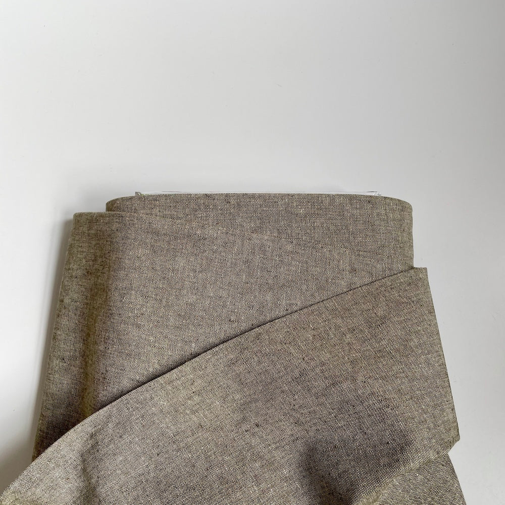 Robert Kaufman : Essex Chambray Linen - Olive