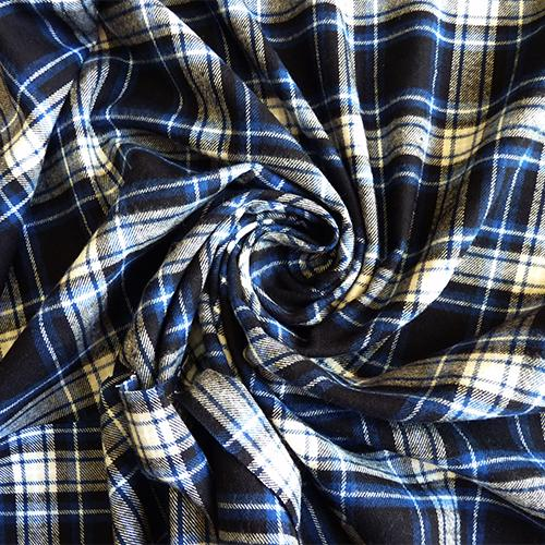 Rodeo Plaid Flannel : Black / White / Blue Thumbnail