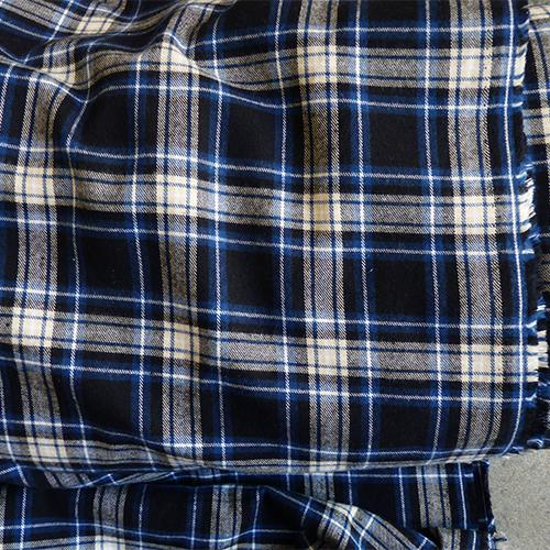 rodeo cotton plaid flannel fabric blue white black
